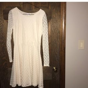 White lace Charming Charlie dress. NWT